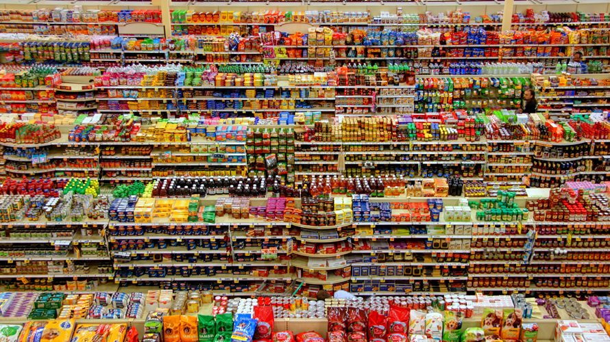 aisles of food
