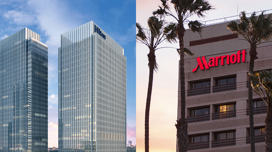 marriott and hilton hotels