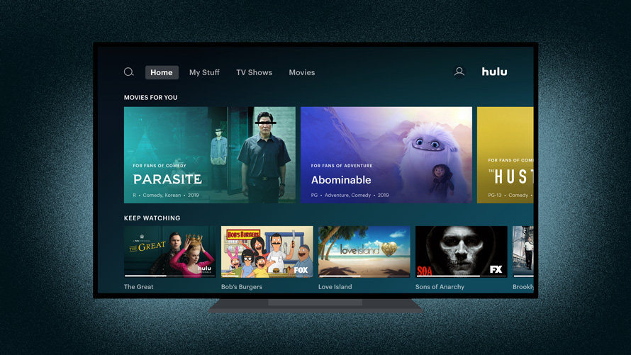Photo of Hulu's user interface