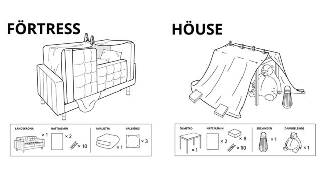 Ikea's Quarantine Campaign Offers 6 Ways to Make Furniture Forts