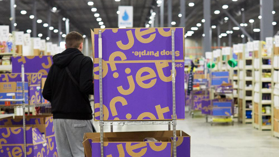 A photo of Jet.com boxes in a store