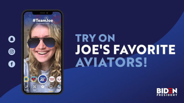 You Can Now Wear Joe Biden's Aviators on Snapchat