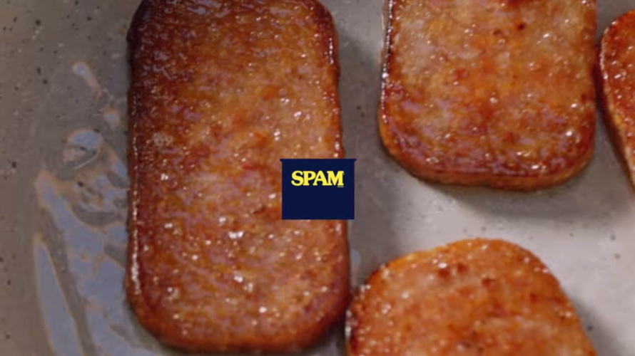 three slices of spam