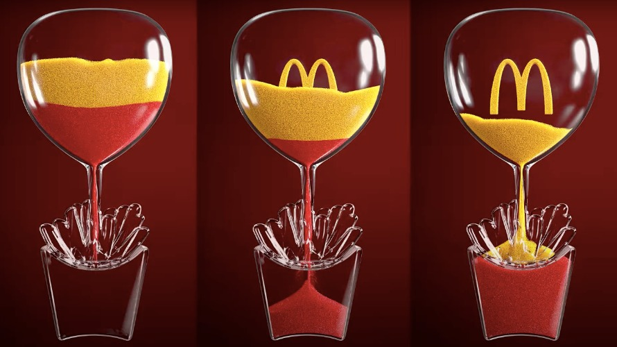 Image of three McDonald's hourglasses