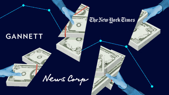money shaped like triangles linked by thin blue lines
