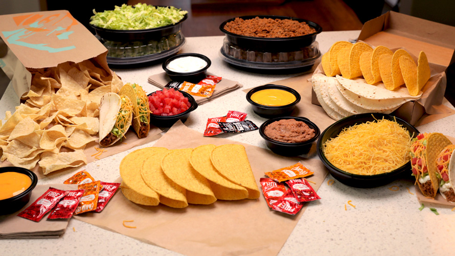 Photo of Taco Bell's at home taco bar kit