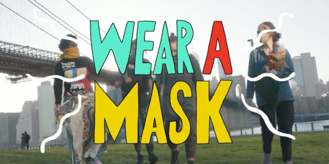 'We Love NY' PSA about wearing a mask