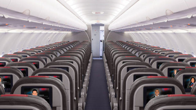 empty airplane cabin