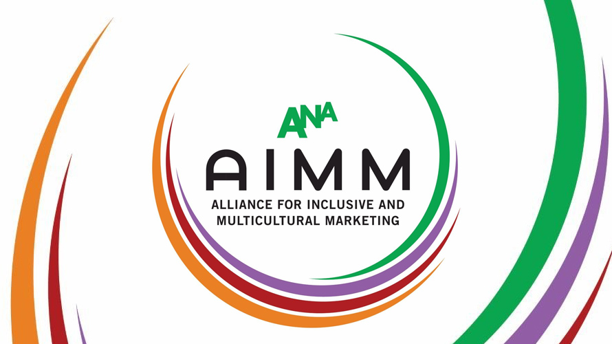 colorful circle lines that says ANA and AIMM in the middle