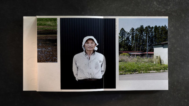 A page from the book made out of Fukushima rice
