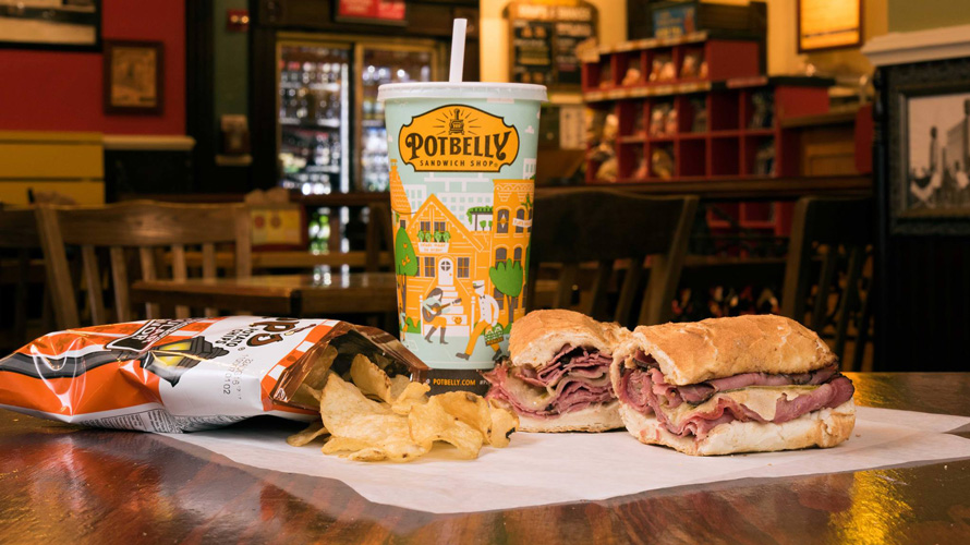 Food and beverage from Potbelly Sandwich Shop