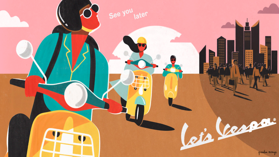 Screenshot from the Vespa campaign
