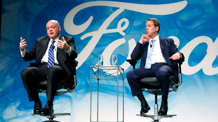Ford Motor Company CEO Jim Hackett and Executive Chairman Bill Ford