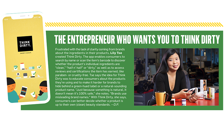 Sidebar with the title 'This Entrepreneur Wants You to Think Dirty'