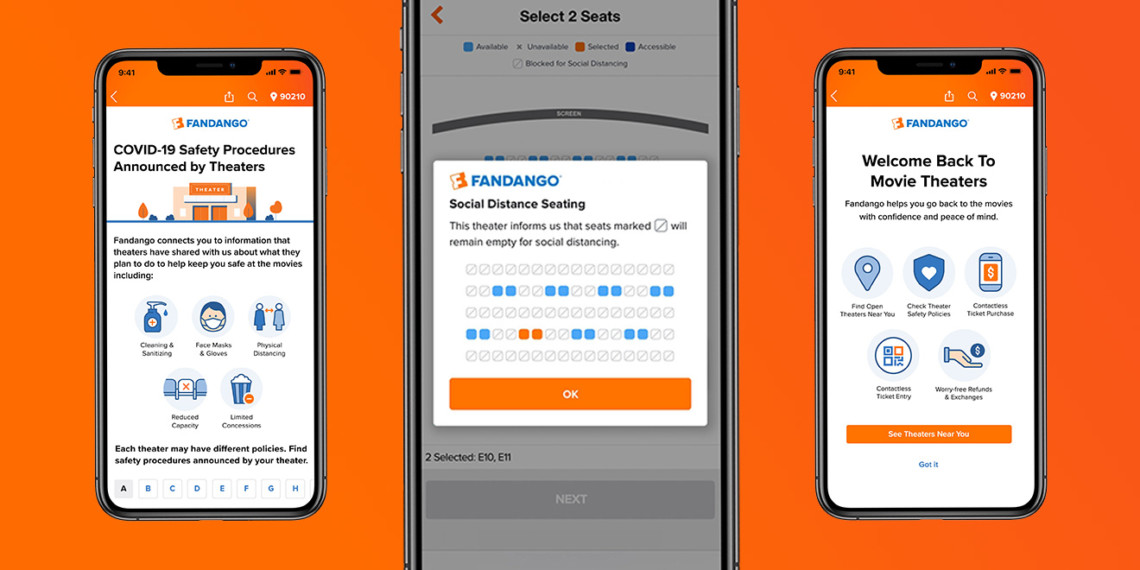 fandango app screens