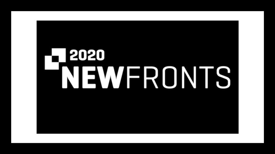 black background with white text that read 2020 NewFronts