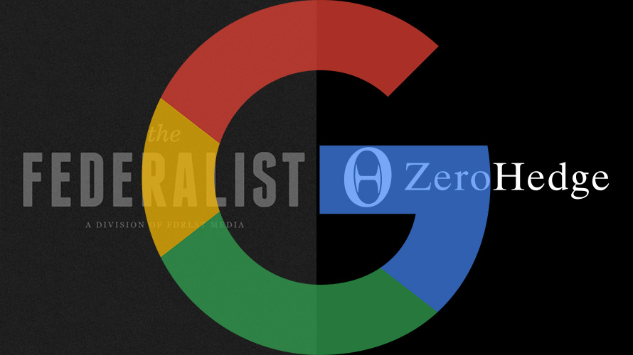 google, zero hedge and the federalist logos