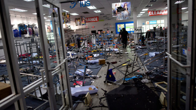 store in Philadelphia after the looting