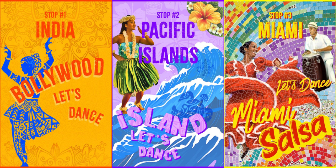 Posters for India, Hawaii and Miami