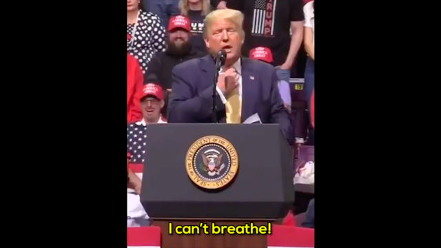 Video screenshot of Donald Trump from one of his rallies