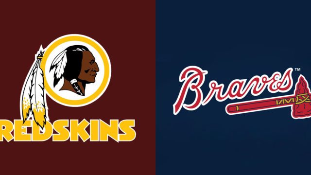 Washington Redskins and Atlanta Braves logos