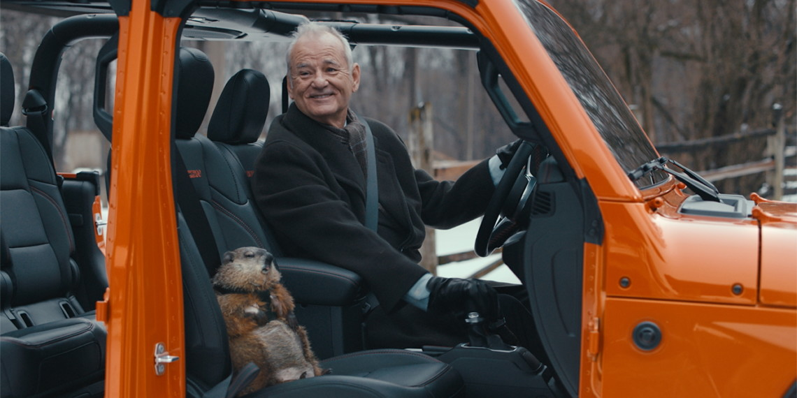 Bill Murray in Jeep's Groundhog Day ad