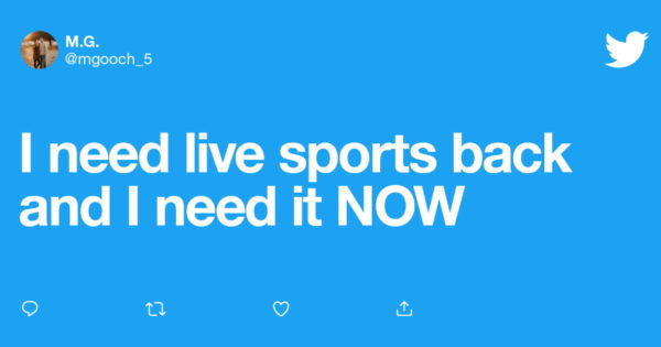 As Live Sports Return, Twitter Activity Heats Up