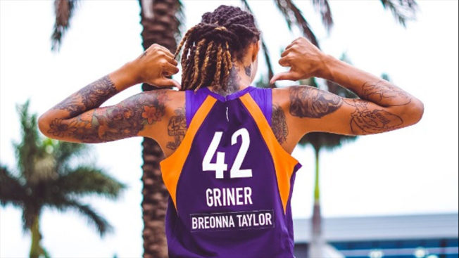 WNBA jersey with Breonna Taylor's name