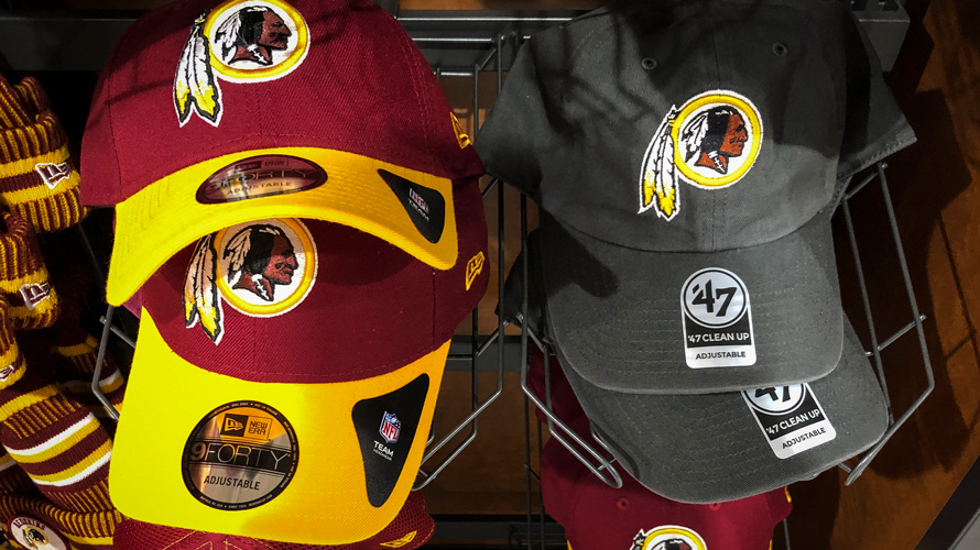 redskins baseball hats