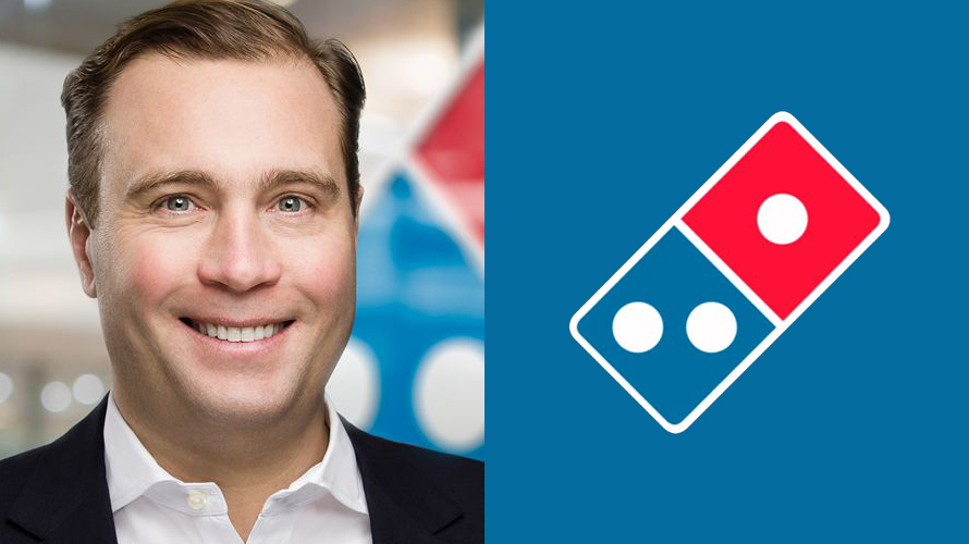 Photo of Art D'Elia and the Domino's logo