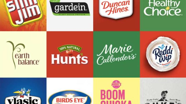 Collage of Conagra brands