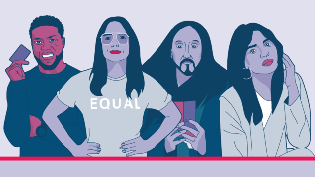 Illustration of Kevin Hart, Sophia Bush, Steve Aoki and Priyanka Chopra