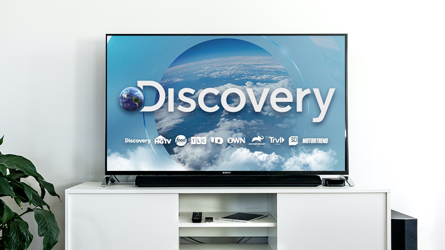 Discovery Inc. on a TV