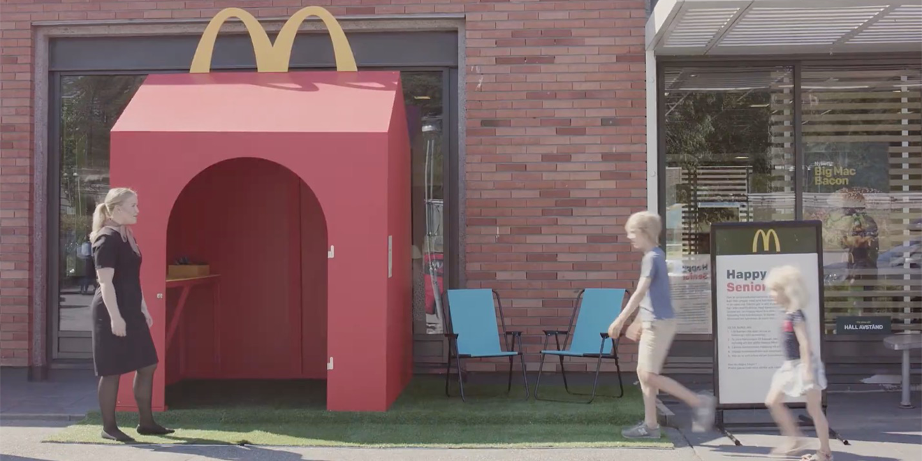 People around the McDonald's Happy Meal space