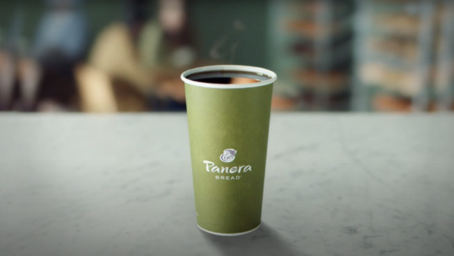 a cup of panera coffee