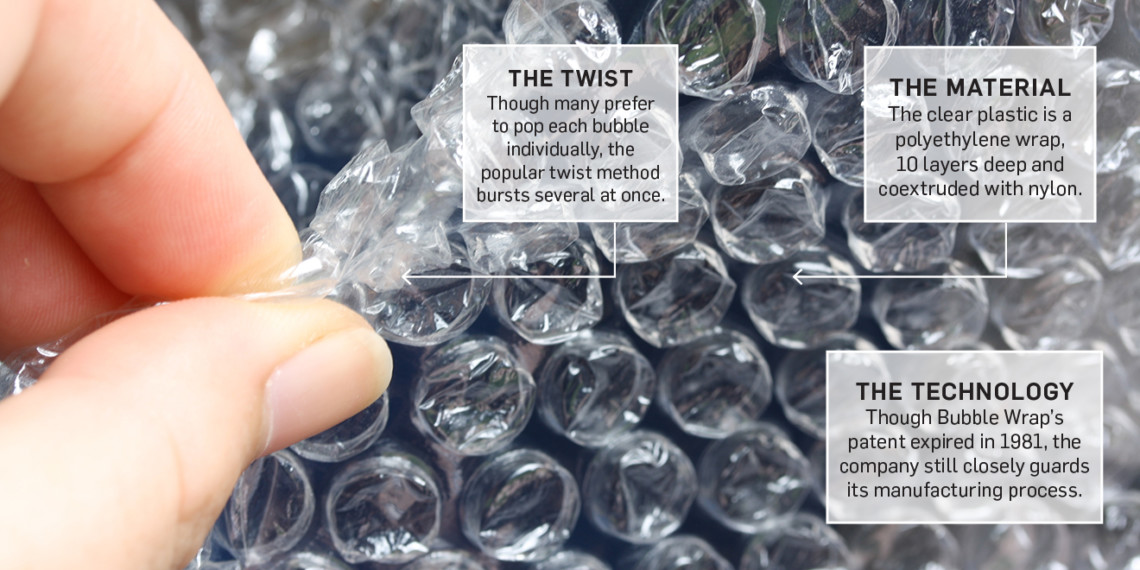 bubble wrap with text bubbles on it
