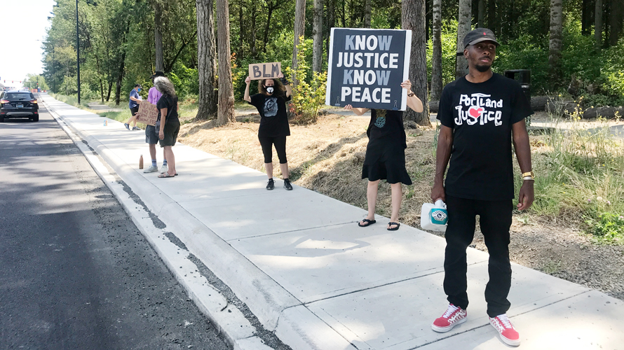 Black Nike Employees Matter protest