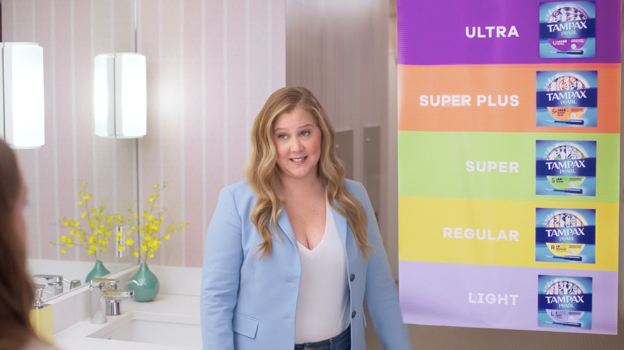 Amy Schumer in a Tampax spot