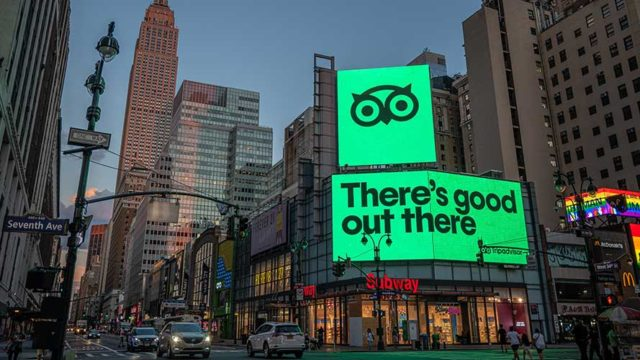 tripadvisor billboard in times square