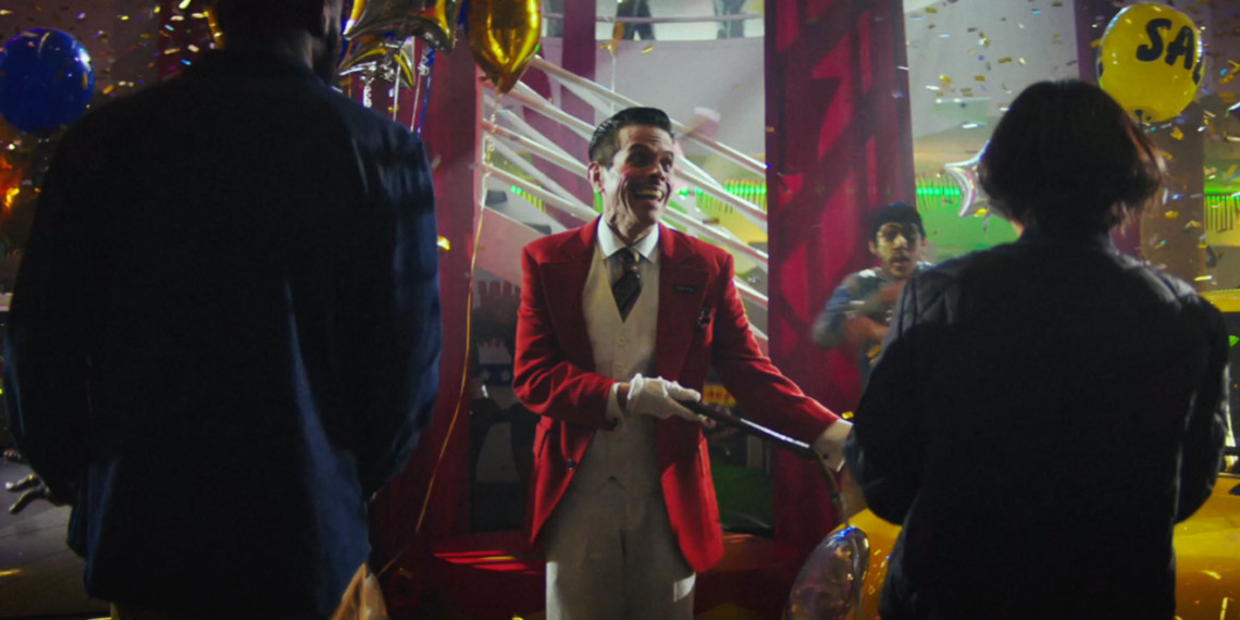 a ringmaster in a car dealership