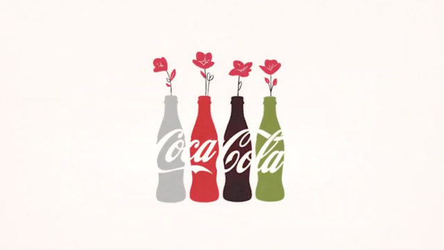 Illustration of Coke bottles