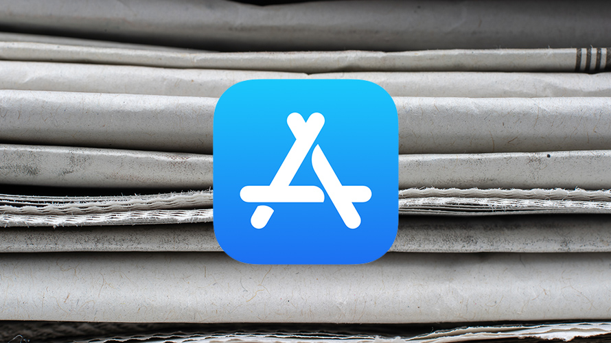 app store logo on a gray background
