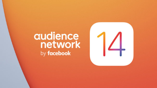 orange background that says audience network by facebook 14