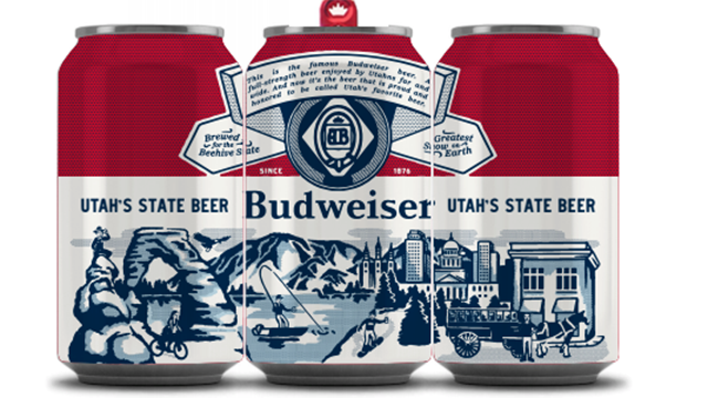 three-pack of budweiser cans