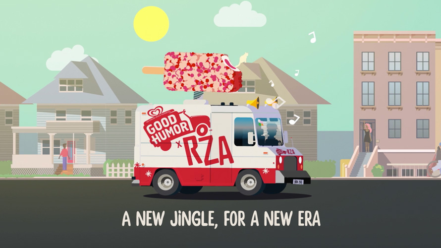 Good Humor truck with RZA