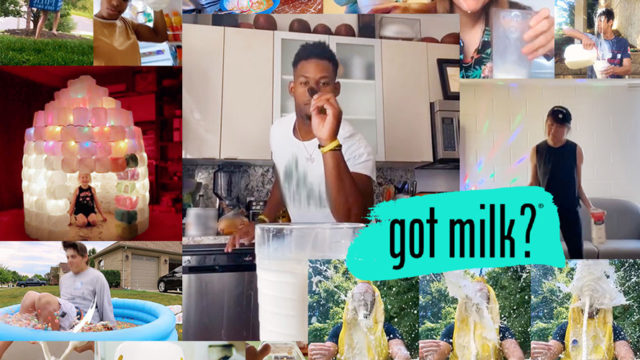 Collage of the 'Got Milk?' campaign