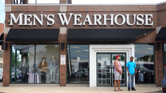 men's wearhouse storefront