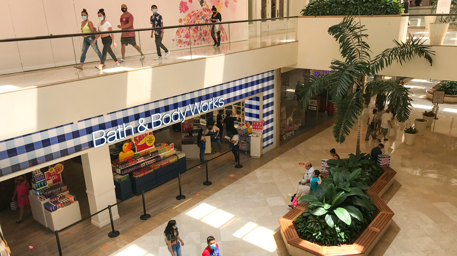 Photo of a shopping mall