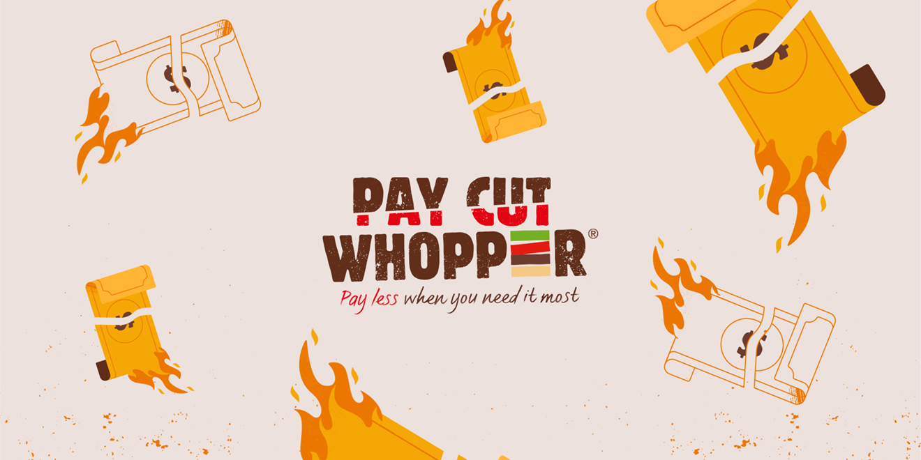 Pay Cut Whopper promo