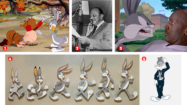 a series of shots of bugs bunny